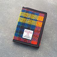 Harris tweed wallet bright tartan
