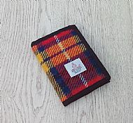 Harris tweed wallet bright tartan