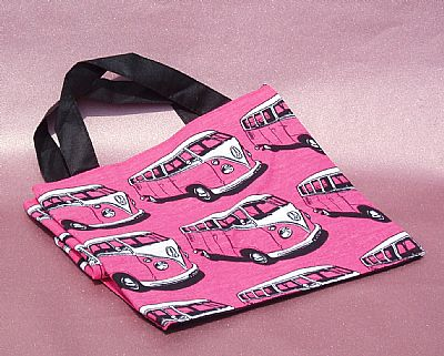 pink bag vw campervan
