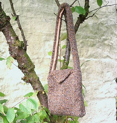 chunky knit brown bag by rooses workshop