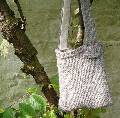 herdy bag grey chunky knit