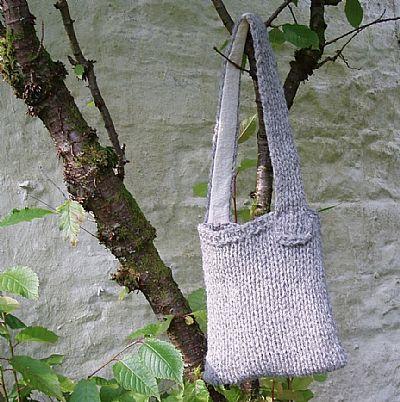 grey herdwick wool bag by roses workshop