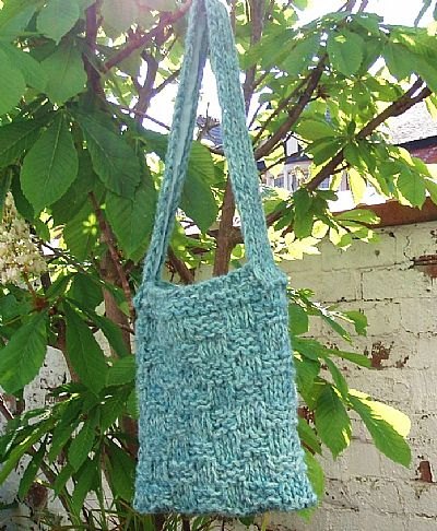 herdwick shoulderbag turquoise blue wool by roses workshop