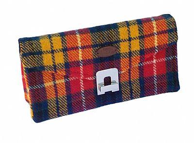 harris tweed tartan clutch bag by roses workshop