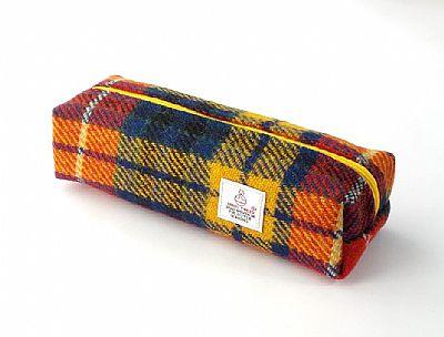 harris tweed tartan pencil case by roses workshop