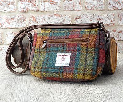 back of harris tweed handbag by roses workshop