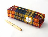 Harris tweed pencil case bright tartan