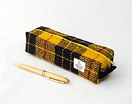 Harris tweed pencil case Macleod tartan