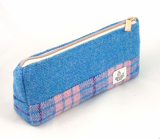 harris tweed pencil case by roses workshop