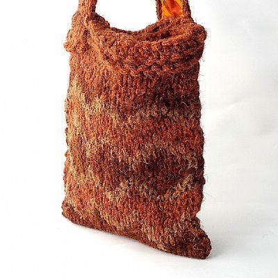 herdwick wool chunky knit bag from roses workshop