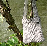 Chunky knit grey Herdwick shoulderbag