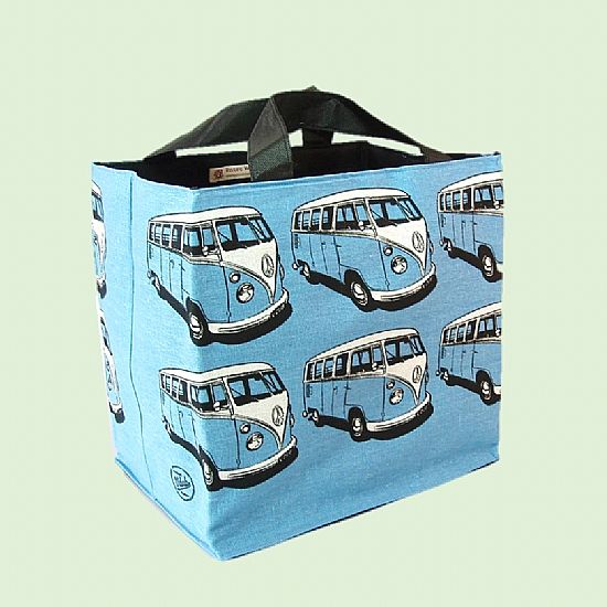 blue campervan beach bag by roses workshop