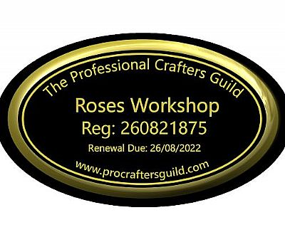 professional crafters guild membership badge for roses workshop
