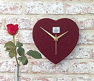 Harris tweed clock red heart