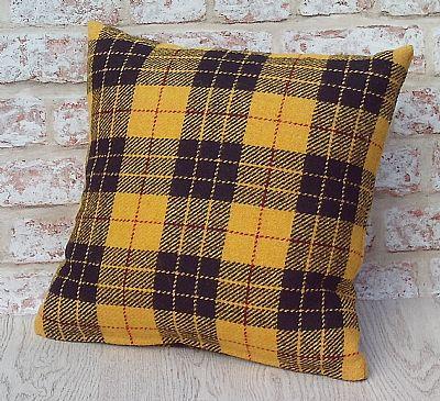 harris tweed cushion in dress macleod tartan by roses workshop