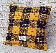 MacLeod tartan Harris tweed cushion cover