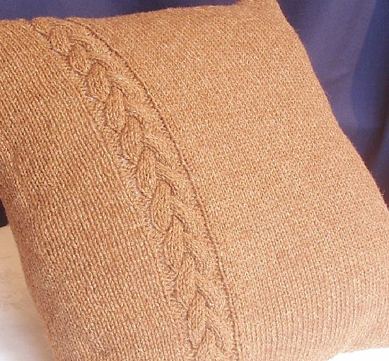 manx loaghtan knitted cushion by roses workshop