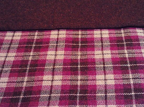 heather tartan harris tweed from shawbost weavers
