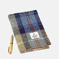 Harris tweed A6 book cover Mackenzie tartan