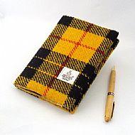 Harris tweed A6 book cover Macleod tartan