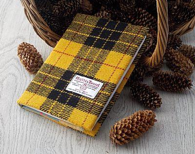 macleod tartan harris tweed covered diary by roses workshop