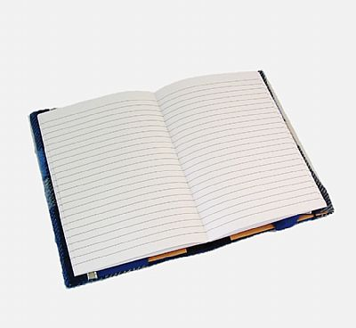inside lined notebook