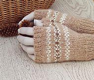 Luxury pure Alpaca gloves fairisle
