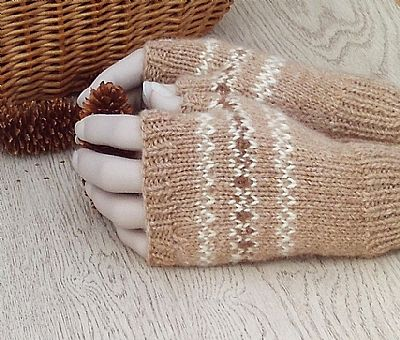 alpaca gloves fairisle design by roses workshop
