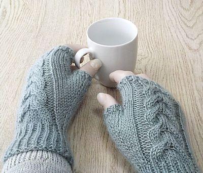 wensleydale wool fingerless gloves by roses workshop