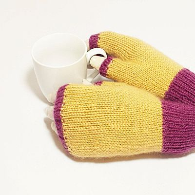 british wool handknit fingerless gloves by roses workshop