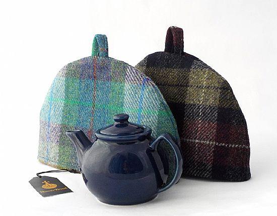 harris tweed tea cosies by roses workshop