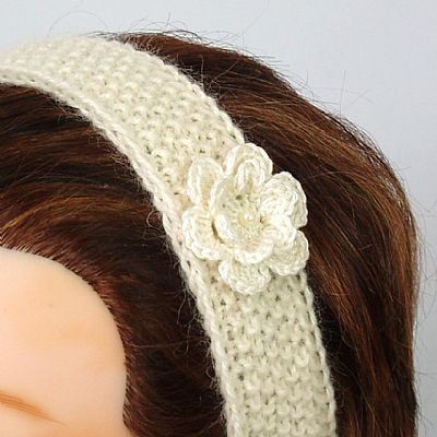 ceam wensleydale wool knitted hairband by roses workshop