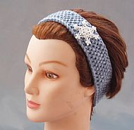 Snowflake acrylic hairband childsize blue