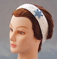 Snowflake acrylic hairband childsize white