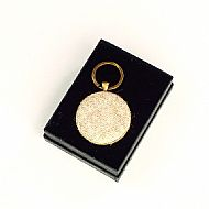 Harris tweed keyring round oatmeal