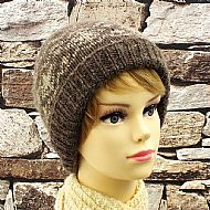 Brown Falklands fairisle beanie