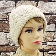 Cream aran cable beanie BFL