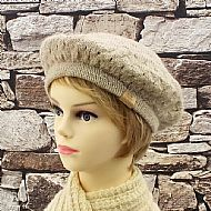 Fawn lacy Wensleydale beret