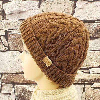 natural caramel brown castlemilk moorit wool hat by roses workshop