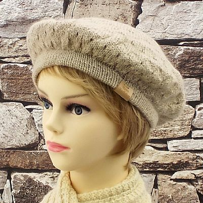 wensleydale wool knitted beretby roses workshop