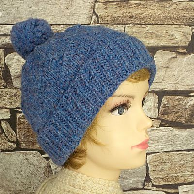 pure british wool bobble hat by roses worshop