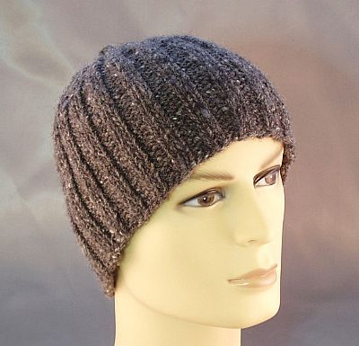 british wool mens ribbed beanie from roses workshop
