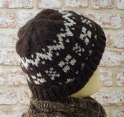 rare breeds beanie hat with fairisle pattern