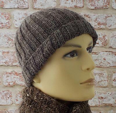 herdwick wool knitted mens beanie hat by roses workshop