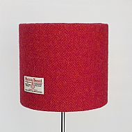 Medium drum lampshade pink orange herringbone