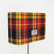 Medium rectangular lampshade bright tartan