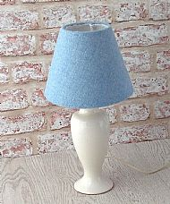Small cone lampshade pale blue