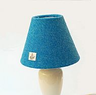 Small cone lampshade bright blue