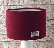 Large drum lampshade dark red