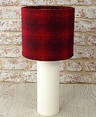 Medium drum lampshade red check